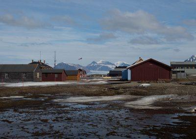 """Outiside view 2"", Ny Alesund, Spitzberg Island, Northest Arctic Village, © Loïc Dorez."