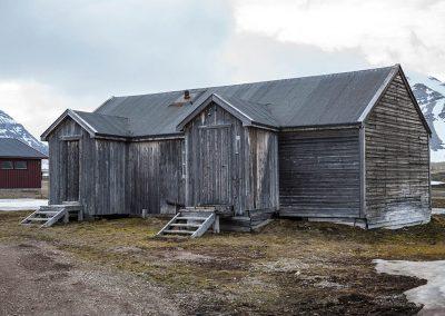 """Arctic hut"", Ny Alesund, Spitzberg Island, Northest Arctic Village, © Loïc Dorez."