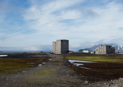 """Power station"", Ny Alesund, Spitzberg Island, Northest Arctic Village, © Loïc Dorez."
