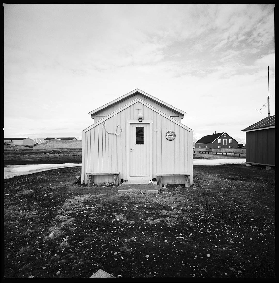 """Arctic house 1"", Ny Alesund, Spitzberg Island, Northest Artic Village, © Loïc Dorez."
