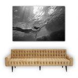 """Glide in the lagoon. 120cm x 180cm  - 3' 15/16""""  x  5' 7/8"""" aprox. ©Loïc Dorez"""