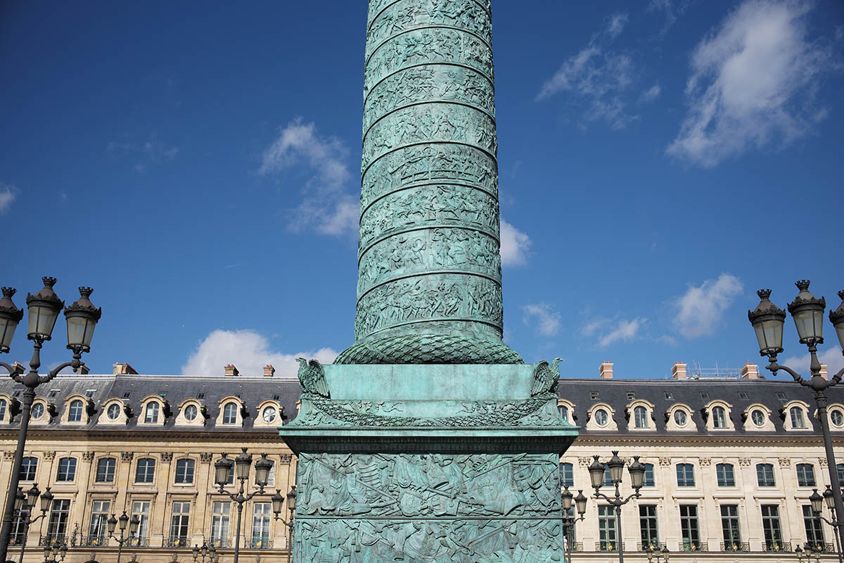 Vendome column regains its splendor to the initiative of the Comité Vendôme and thanks to the patronage of the Ritz.
