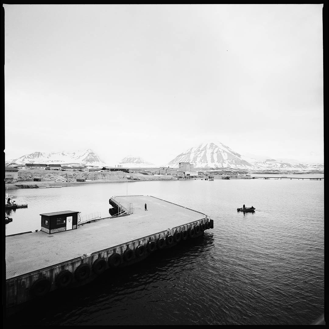 """The dock"", Ny Alesund, Spitzberg Island, Northest Artic Village, © Loïc Dorez."