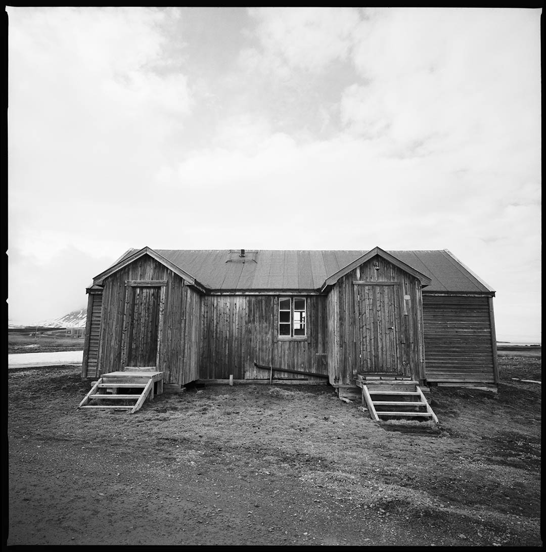 """Arctic house 2"", Ny Alesund, Spitzberg Island, Northest Artic Village, © Loïc Dorez."